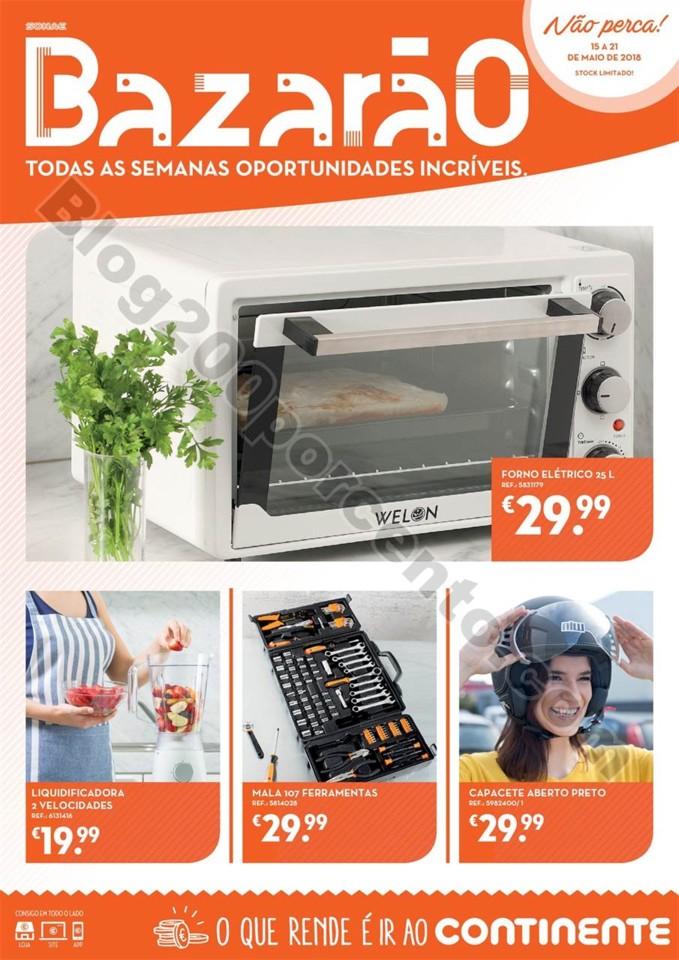 Antevisão Folheto CONTINENTE Bazarão de 15 a 21