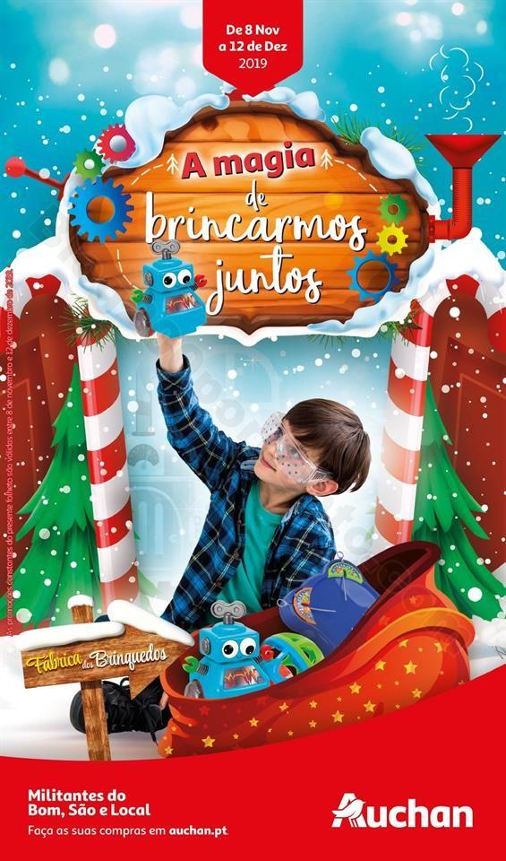 Folheto Brinquedos Natal AUCHAN Promoções de 8 n