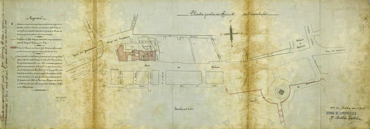 Expropriação e demolição de duas casas que enc