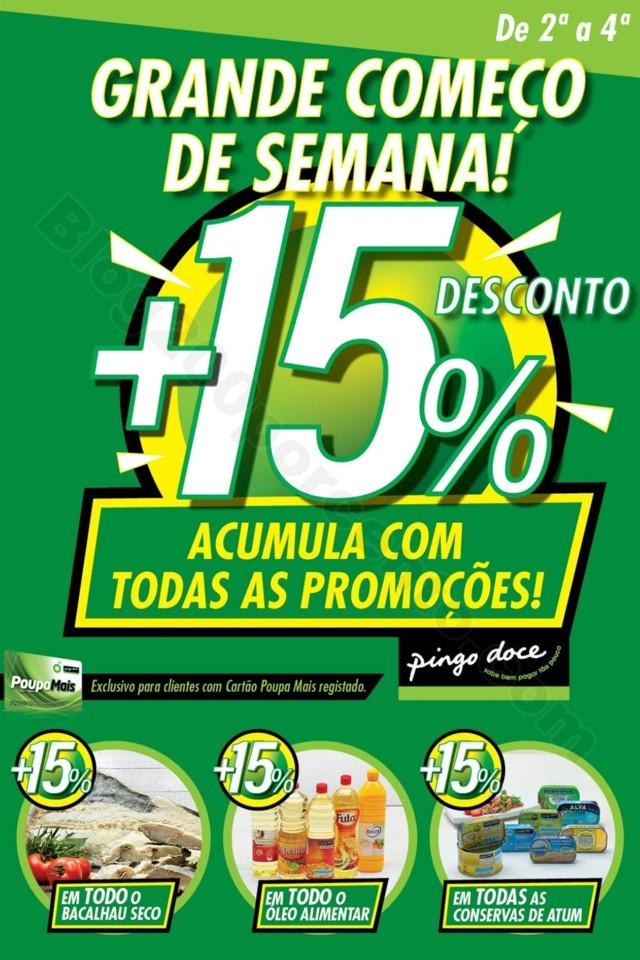 Antevisão Folheto extra PINGO DOCE 15% desconto -