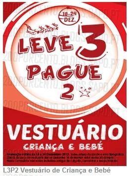 Leve 3 Pague 2 | CODE / PINGO DOCE | de 18 a 24 dezembro
