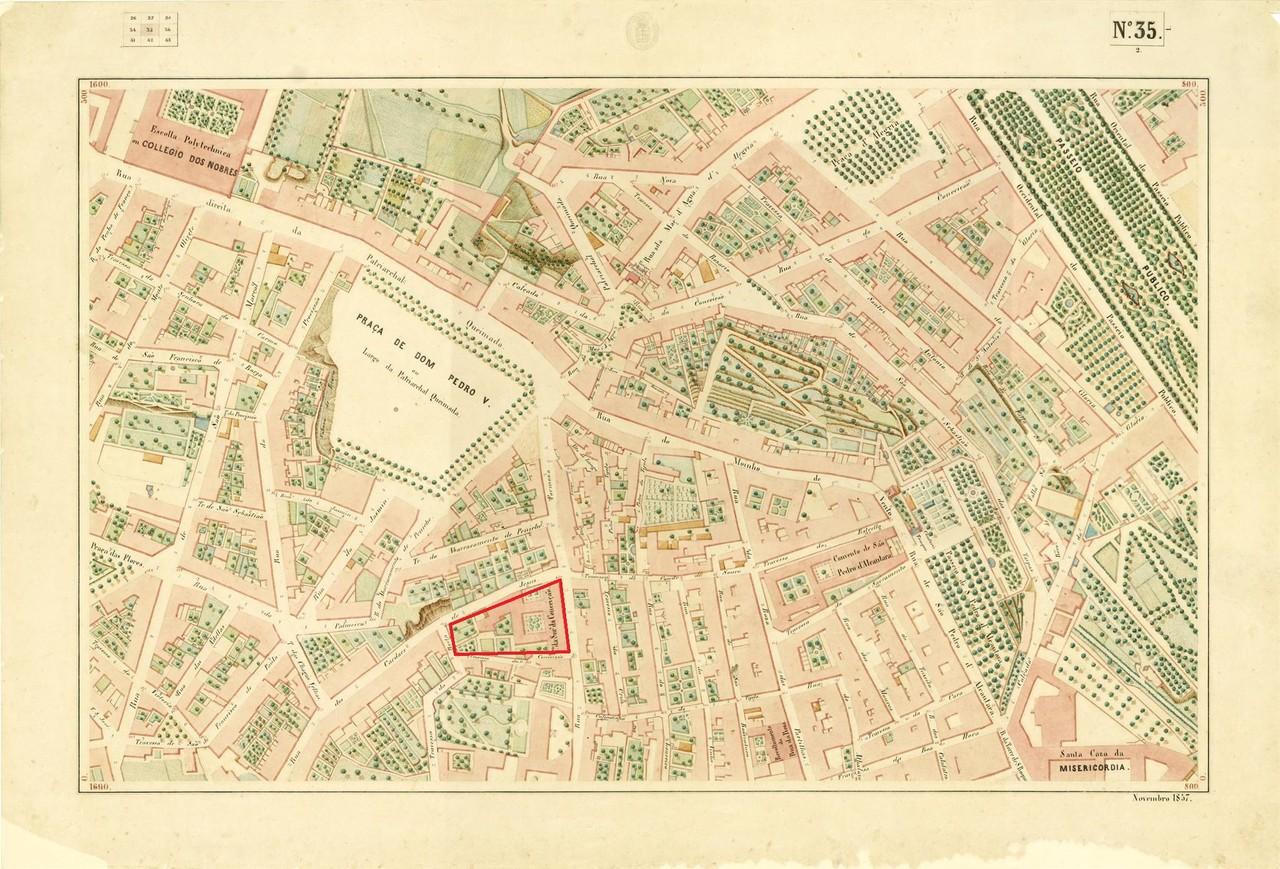 Atlas da carta topográfica de Lisboa, nº 35 , 18