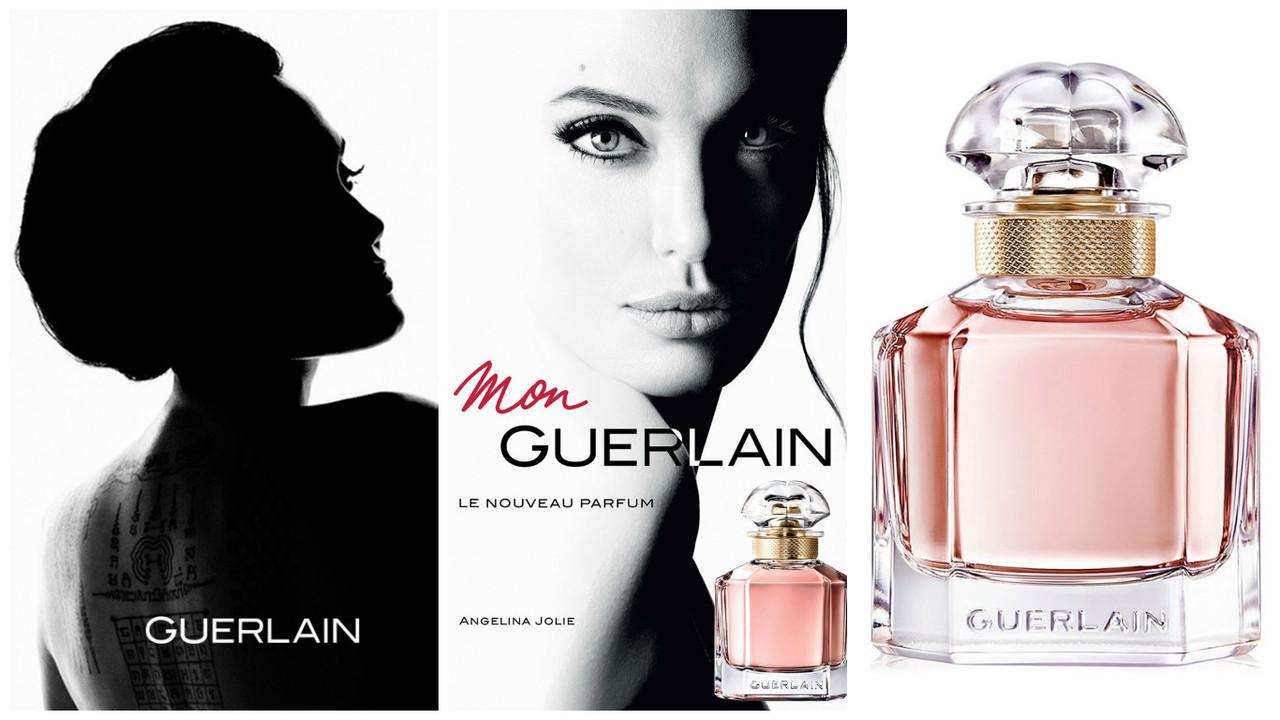 Campanha da Fragrância Mon Guerlain por Angelina Jolie