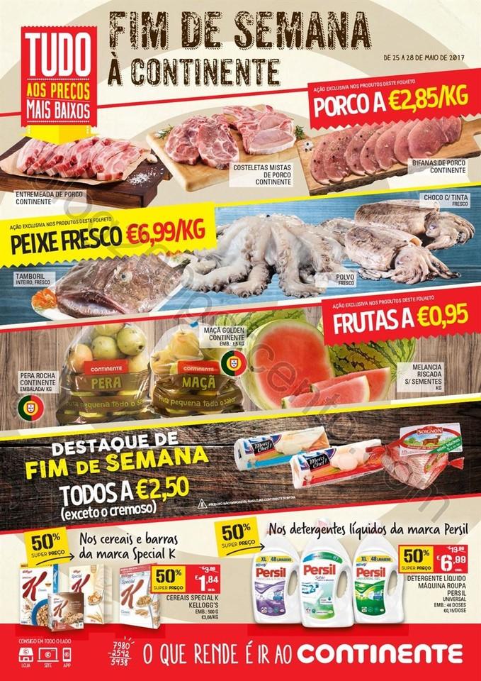 Antevisão Folheto CONTINENTE Fim de semana de 25