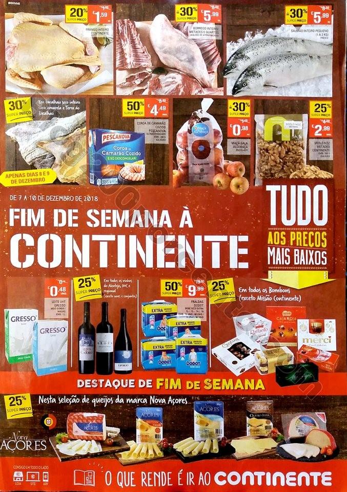 Antevisão Folheto Continente Fim Semana 7a10dez
