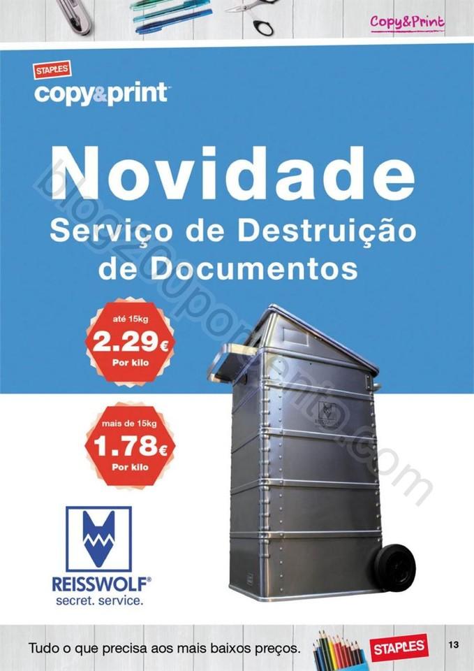 Antevisão Folheto STAPLES Promoções de 22 setem
