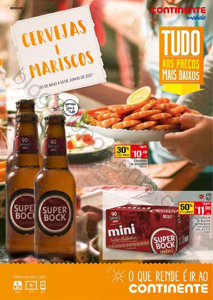 Novo Folheto CONTINENTE Cervejas e Mariscos promo