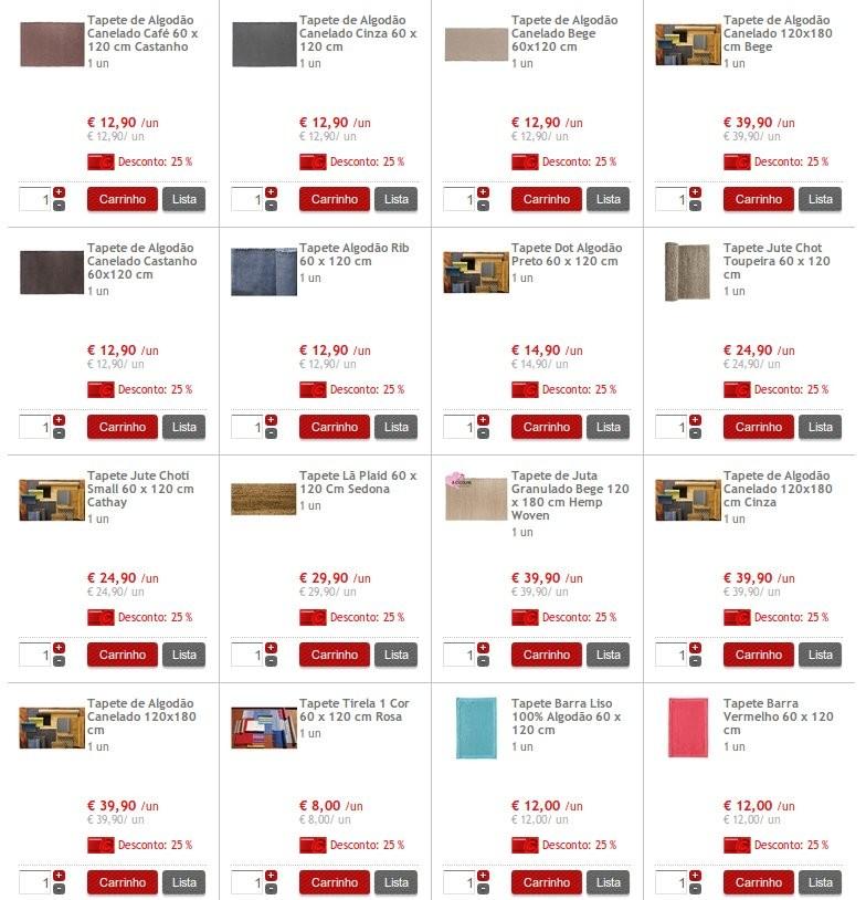 25% desconto em Tapetes Têxtil | CONTINENTE | , até 20 Outubro