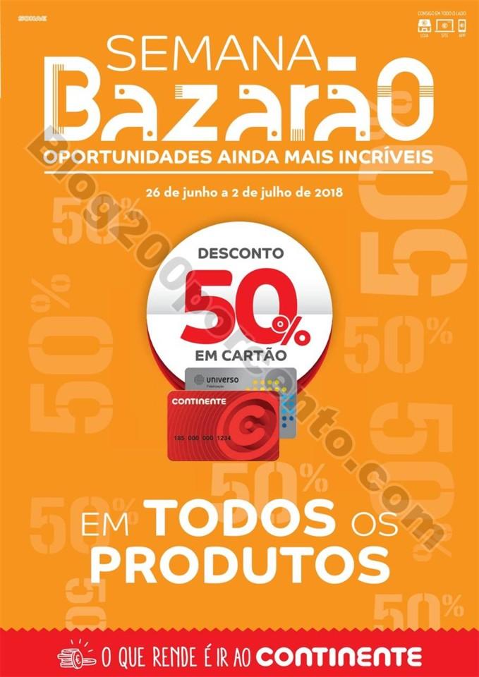 Antevisão Folheto CONTINENTE Bazarão Extra 26 ju