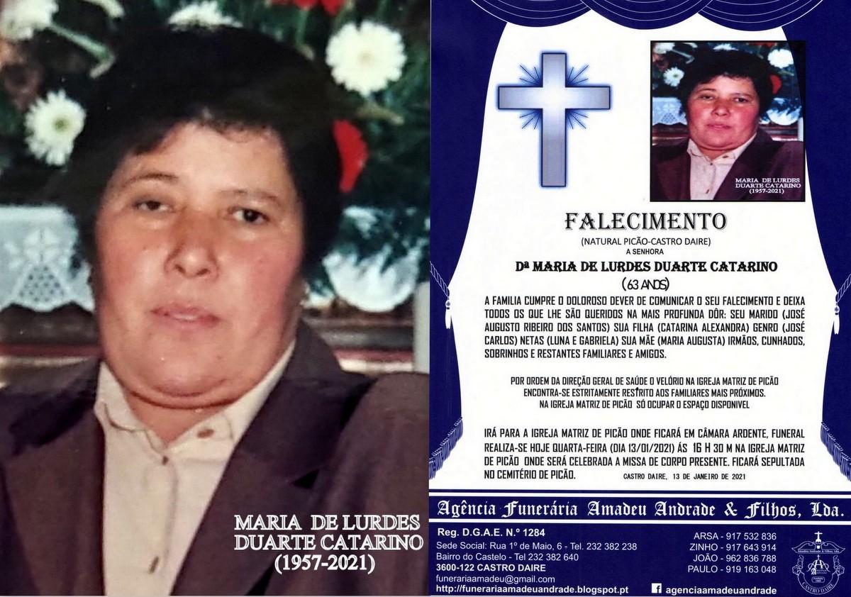 FOTO RIP DE MARIA DE LURDES DUARTE CATARINO-63 ANO
