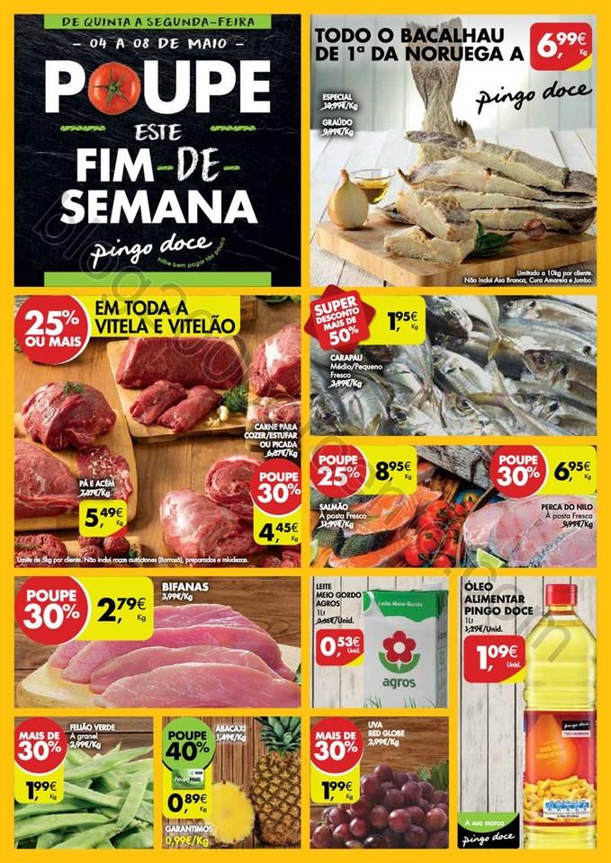 Antevisão Folheto PINGO DOCE Fim de semana promo
