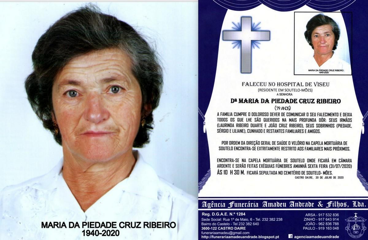 FOTO RIP DE MARIA DA PIEDADE CRUZ RIBEIRO -79 ANOS