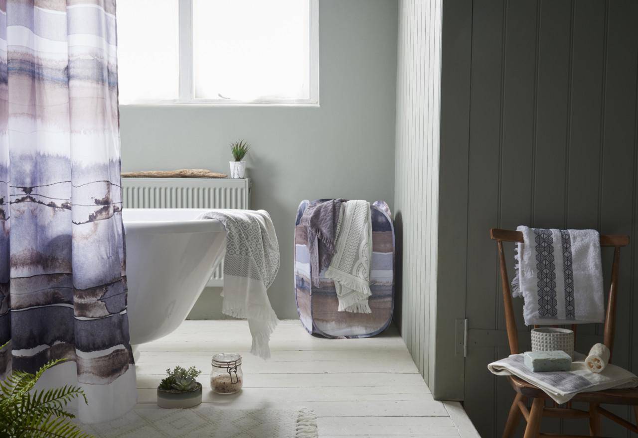 Primark Hygge Bathroom shower curtain, E7 $8, bin