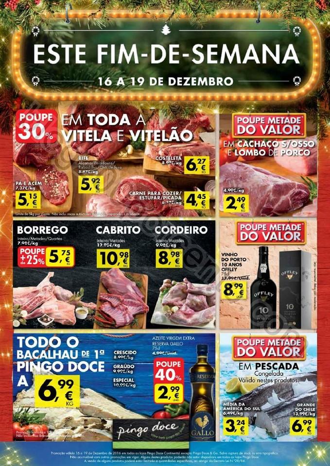 Novo Folheto PINGO DOCE Este Fim de Semana de 16 a
