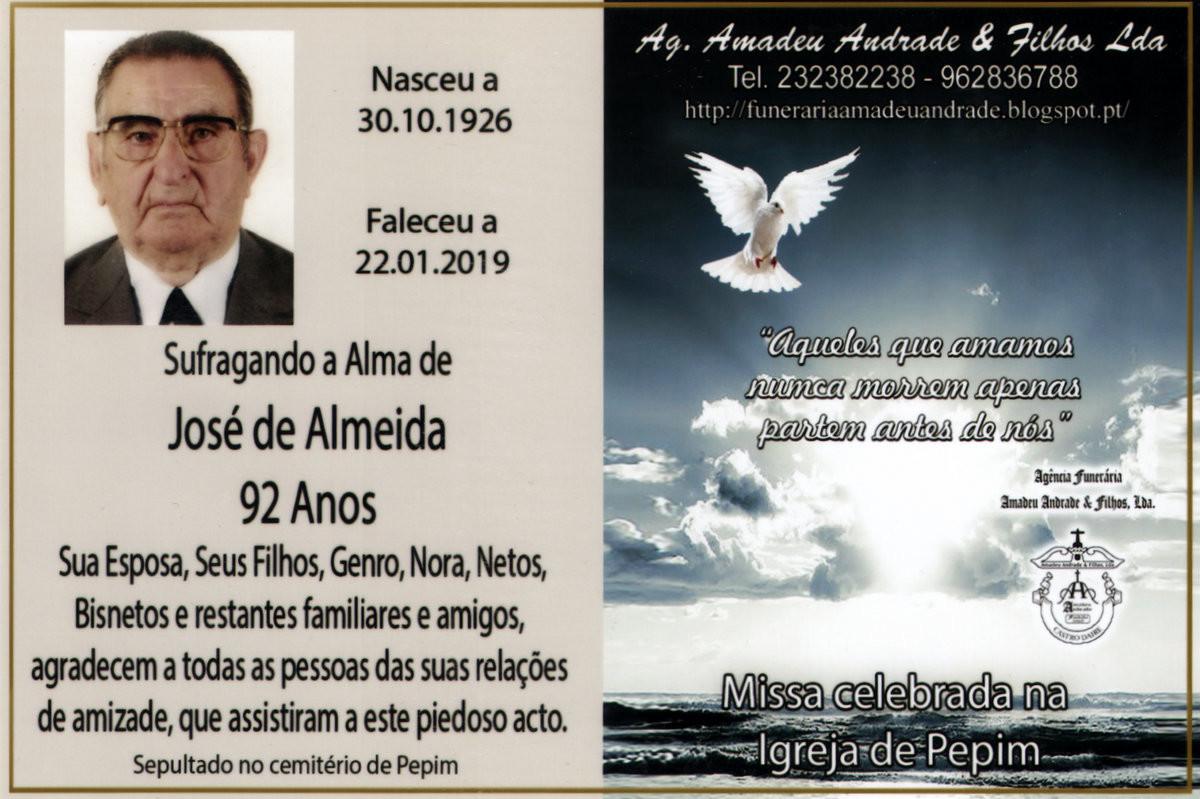 CARTÃO3 DE AGRADECIMENTO DE JOSÉ  DE ALMEIDA  -9