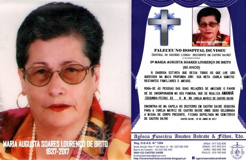 FOTO DE RIP-FOTO MARIA AUGUSTA SOARES LOURENÇO DE