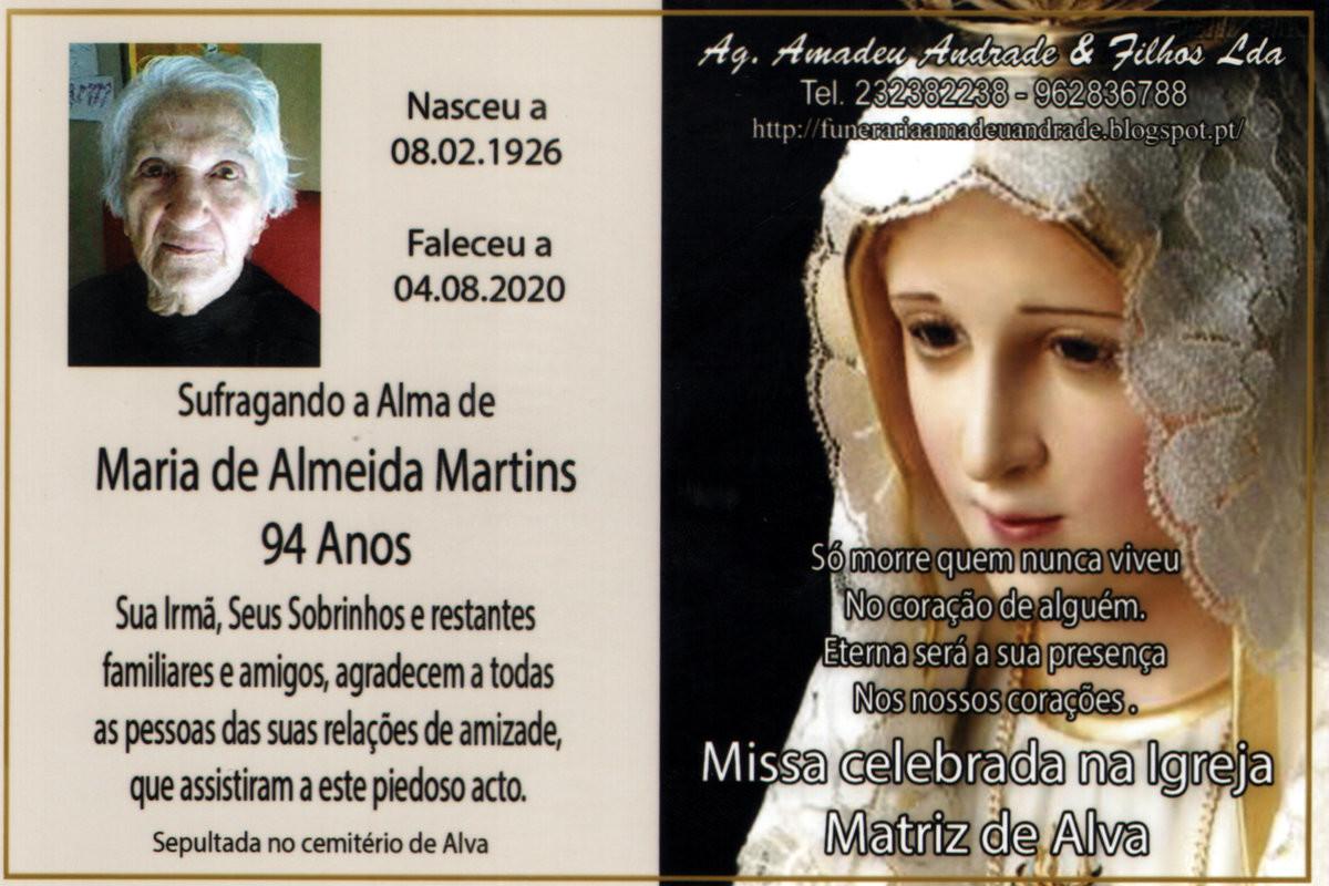 CARTÃO2 DE AGRADECIMENTO DE Dª MARIA DE ALMEIDA