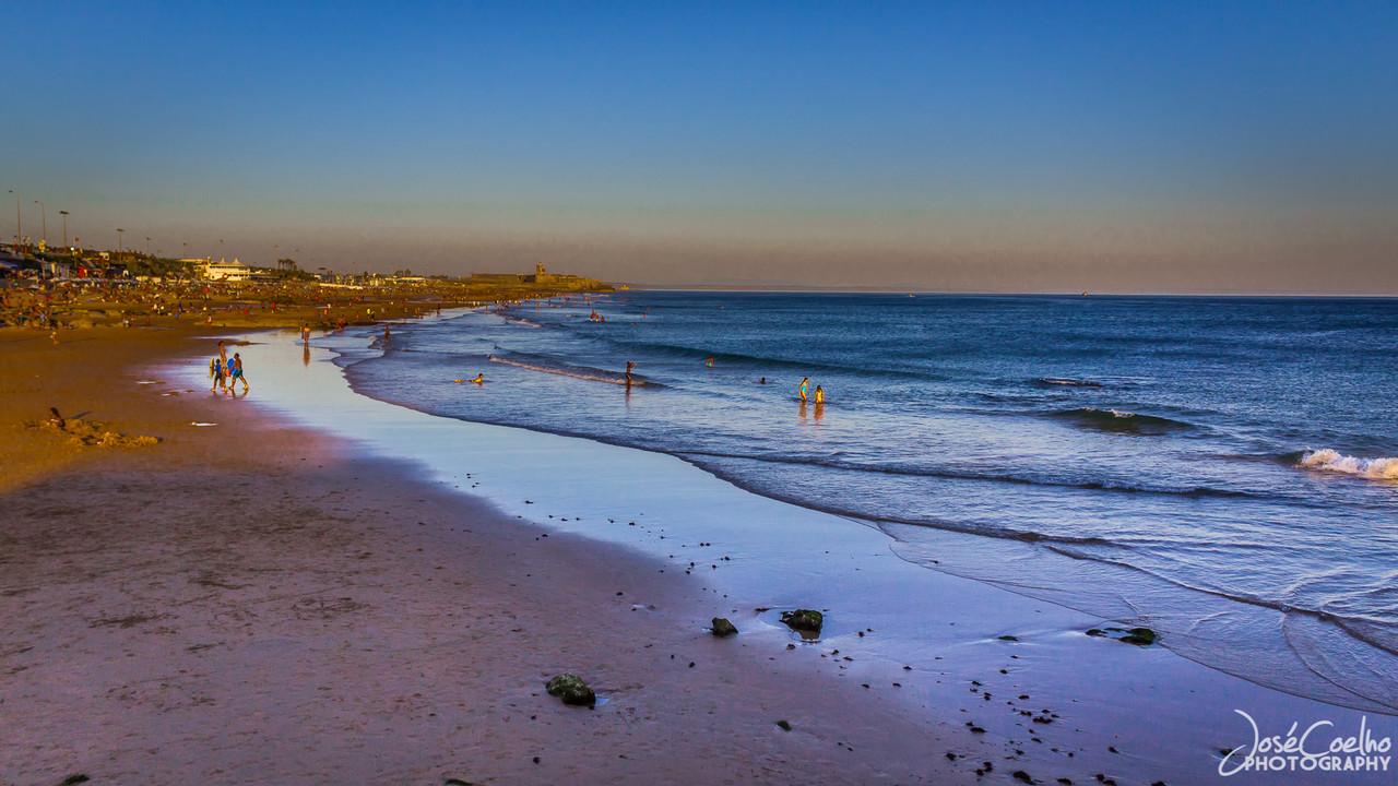 carcavelos praia sunset portugal
