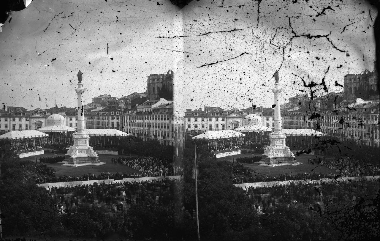 Inauguração da estátua de Dom Pedro IV, 1870, f