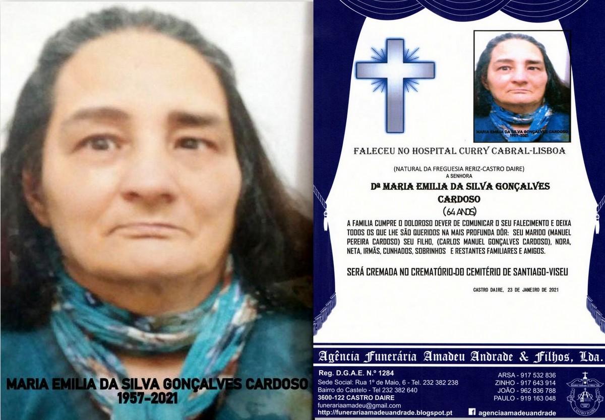 FOTO RIP DE MARIA EMILIA DA SILVA GONÇALVES CARDO
