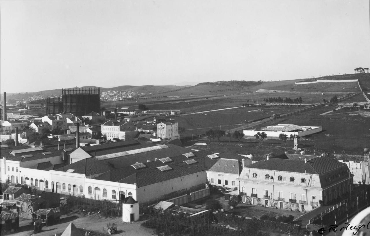 Panorâmica sobre Belém, vê-se o palácio Marial