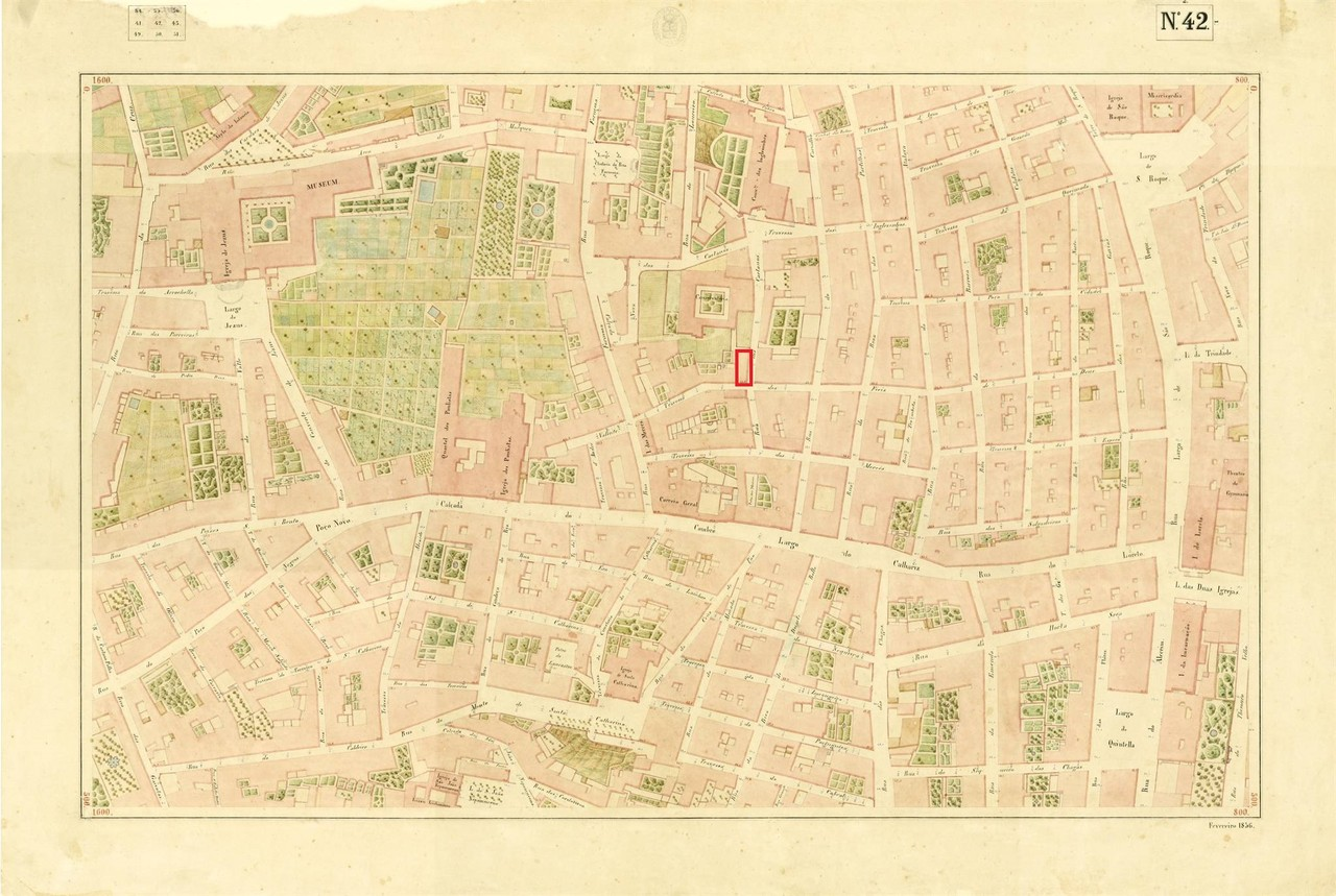Atlas da carta topográfica de Lisboa, N.º 42, 18