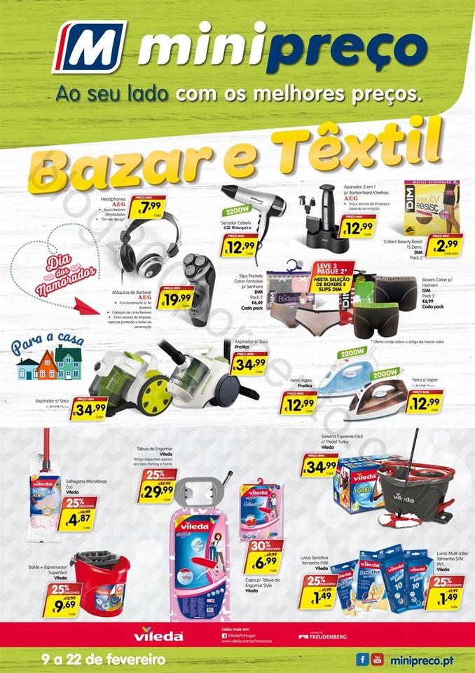 Novo Folheto MINIPREÇO Bazar promoções até 22