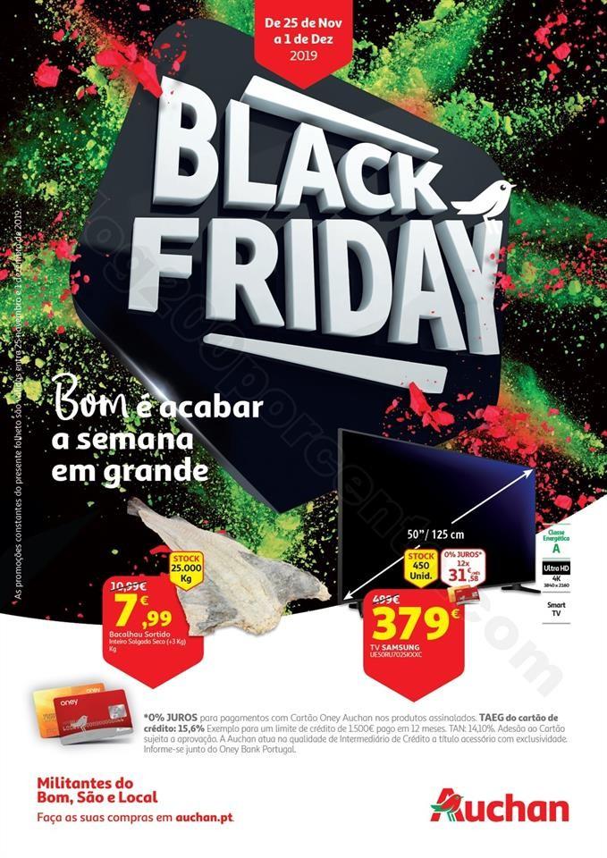 Antevisão Folheto AUCHAN Black Friday Promoções