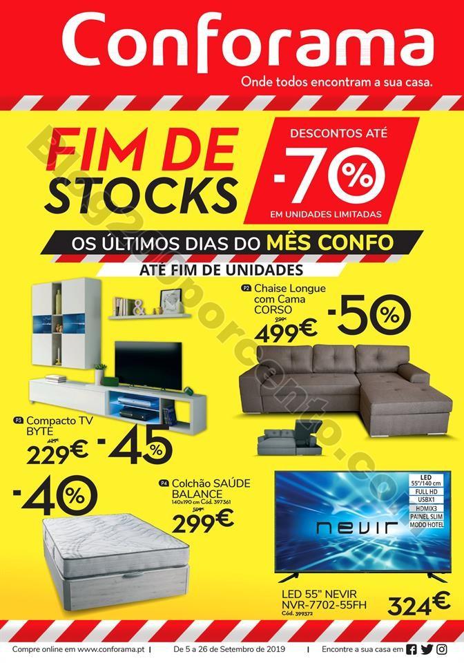Antevisão Folheto CONFORAMA Fim de Stocks 5 a 26