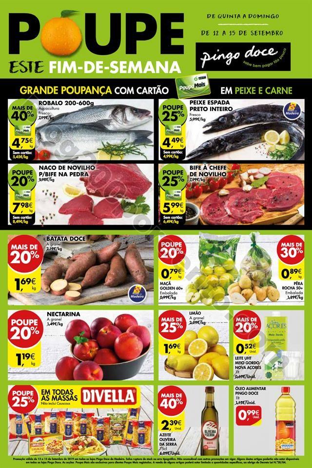 Fim de semana PINGO DOCE Madeira 12 a 15 setembro