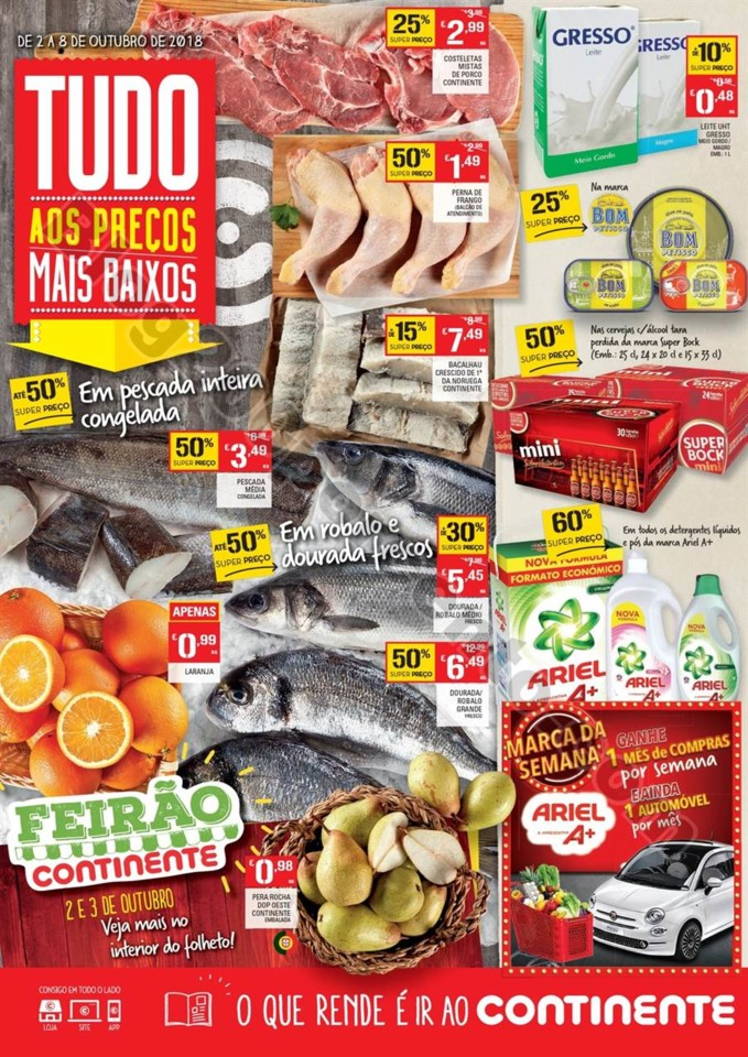 Folheto Promoções Continente Antevisão 2a8out