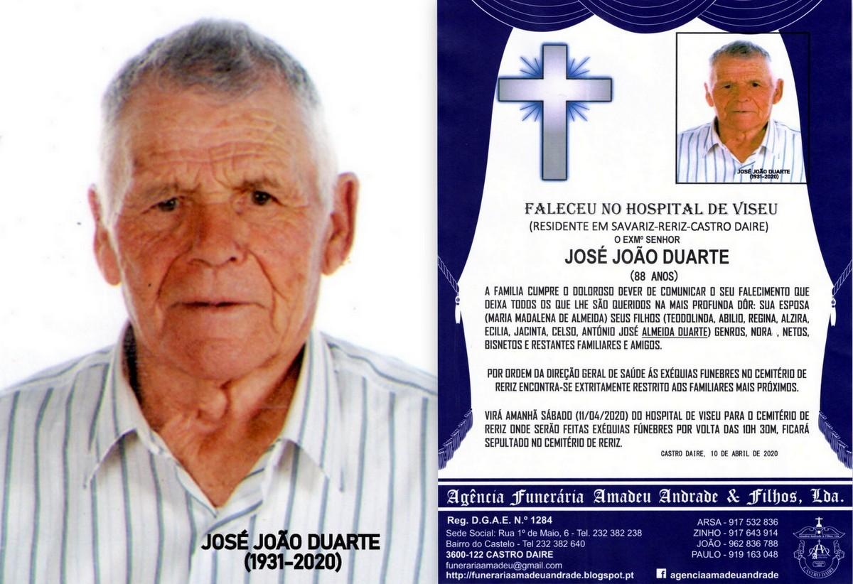 FOTO RIP DE JOSÉ JOÃO DUARTE-88 ANOS (SAVARIZ-RE