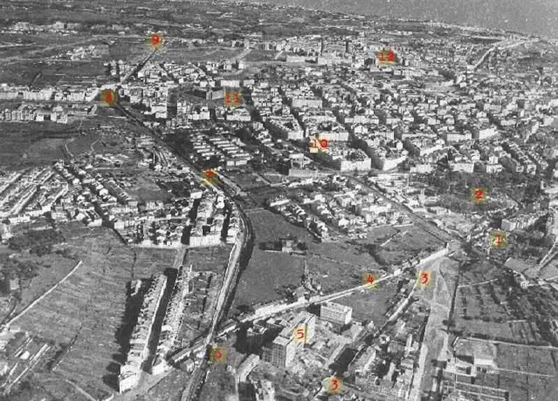 Vista aérea das avenidas novas; Lisboa (Judah Benoliel, c. 1945)