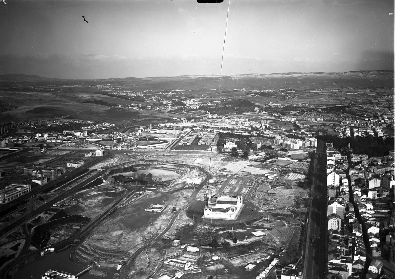 Fotografia aérea do Parque Eduardo VII, 1934, fot