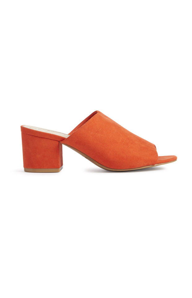KIMBALL-0569503-MF BLOCK HEEL MULE ORANGE, GRADE R