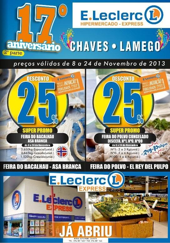 Antevisão folheto | E-LECLERC | Chaves de 8 a 24 novembro