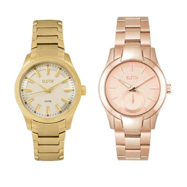 2d0cf4205c6 Relógio Jazz Gold   White (€129) e Eletta Glam Rose (€149).