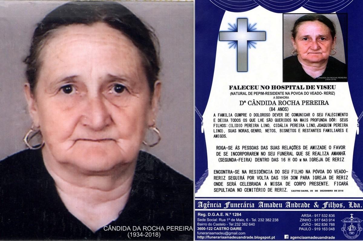 FOTO RIP-CANDIDA DA ROCHA PEREIRA-84 ANOS (POVOA D