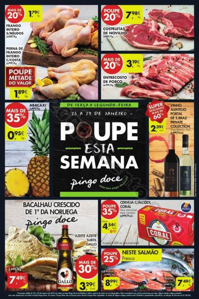 Antevisão Folheto Pingo Doce Madeira 23 janeiro p