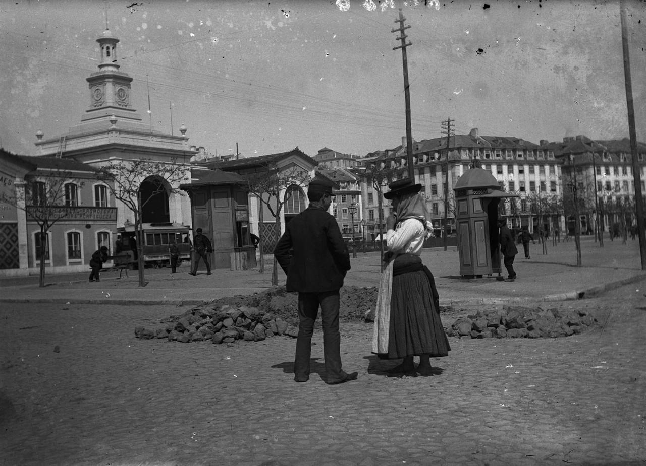Mercado da Ribeira, ant. a 1901, foto de Ferreira