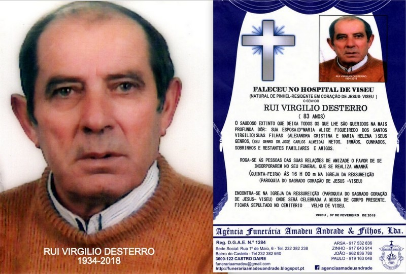 FOTO-RIP-DE RUI VIRGILIO DESTERRO-83 ANOS (VISEU).