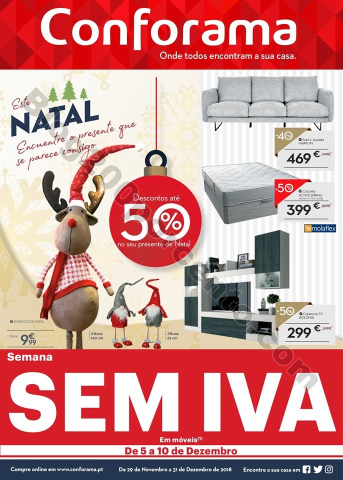 Antevisão Folheto CONFORAMA Natal promoções at