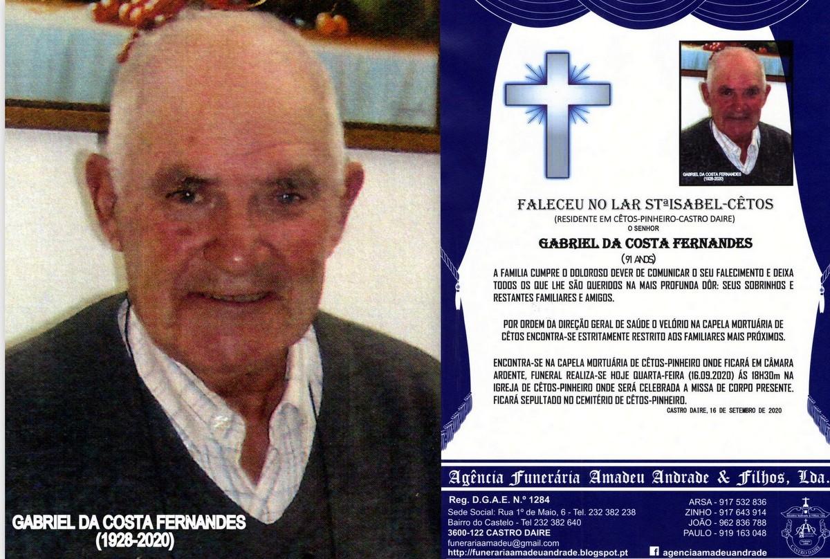 FOTO  RIP  DE GABRIEL DA COSTA FERNANDES-91 ANOS (