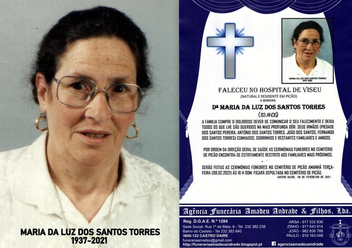 FOTO RIP DE MARIA DA LUZ DOS SANTOS TORRES-83 ANOS