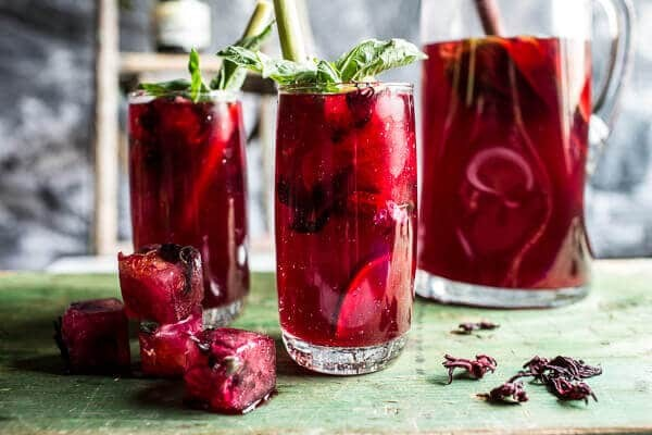 Hibiscus-lemongrass-Basil-and-Honey-Sweet-Iced-Tea