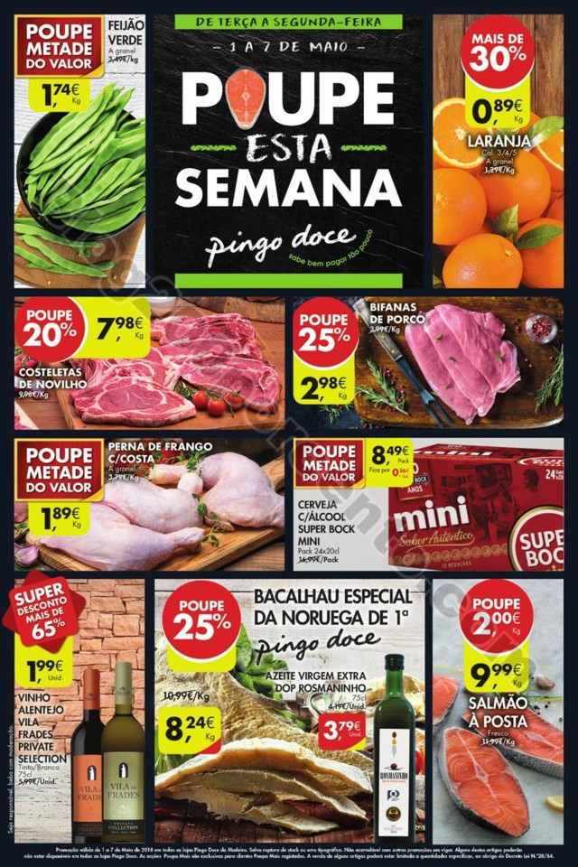 Novo Folheto PINGO DOCE Madeira Promoções de 1 a