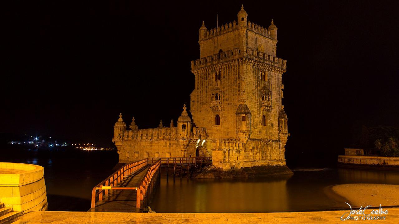 torre de belem lisboa noite
