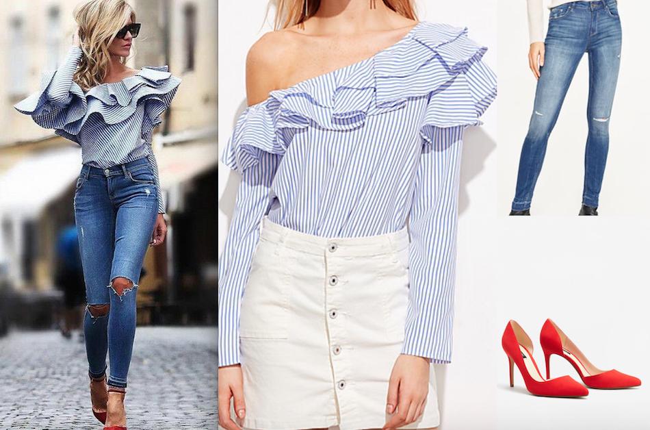GET THE LOOK | camisa com folho