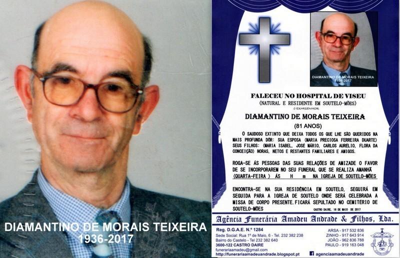 FOTO DE DIAMANTINO DE MORAIS TEIXEIRA-81 ANOS(SOUT