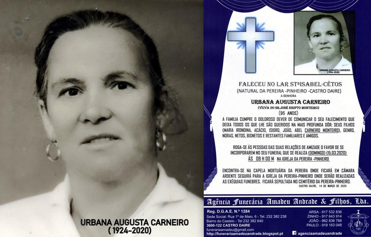 FOTO RIP  DE URBANA AUGUSTA CARNEIRO-95 ANOS (PERE